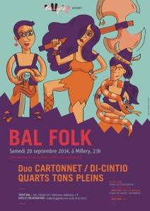 """Affiche créée pour l'asso """"Les Balkyries"""" pour leur prochain bal le 20 septembre 2014"""