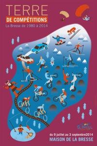 Affiches, kakémonos et invitation réalisés pour la commune dans la Bresse.