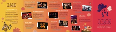 catalogue des spectacles / verso